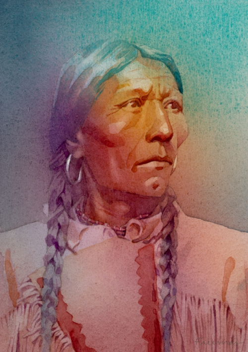 Native American-watercolor-Freeman