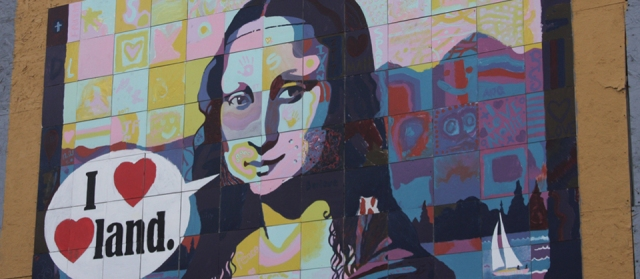 Mona Lisa public art Loveland CO