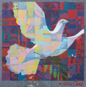 Love peace dove mural scott freeman