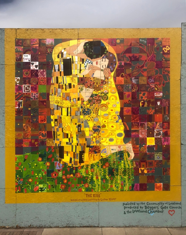 Klimt, The Kiss, Loveland Colorado